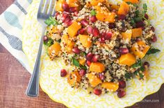 Butternut Squash and Quinoa Salad with Pomegranate | Slender Kitchen