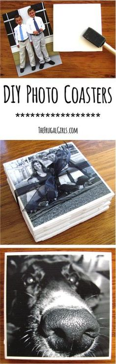 Use this How to Make Photo Coasters Tutorial to make the perfect gift! DIY Photo Coasters Tutorial | The Frugal Girls