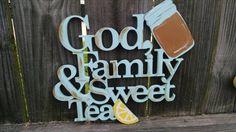 God family & sweet tea wood sign by CanaryNest on Etsy