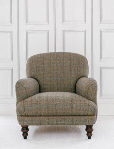 Upholstered in Harris Tweed, handmade by local artisans