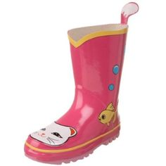 Kidorable Lucky Cat Rain Boot (Toddler/Little Kid), Pink, 8 M US Toddler KIDORABLE. $25.50