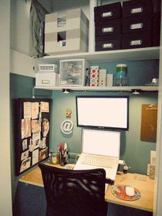closet office!  Love this idea