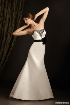 Trumpet/Mermaid Sweetheart Court Train Satin Wedding Dress with Appliques #ShopSimple