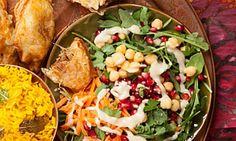 Arugula Salad with Tahini Vinaigrette.
