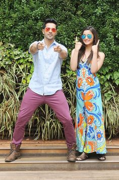 Varun Dhawan sweeps Alia Bhatt off her feet (literally)! #Style #Bollywood #Fashion #Beauty