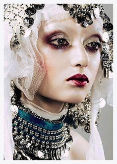 high fashion halloween make-up inspiration