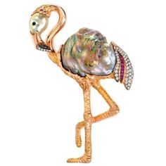 """260 Likes, 7 Comments - JCK Magazine (@jckmagazine) on Instagram: """"A&Z Pearls' one-of-kind brooch has us embracing our inner #flamingo. For more on this week's…"""""""