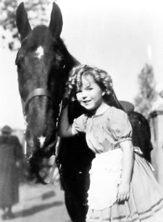 Shirley Temple on the set of The Little Colonel, 1935.