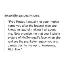 Image about text in harry potter. by fallingforthemoon - Ginny literally got zero say in what they named their kids 😂 - Harry Potter World, Harry Potter Marauders, Harry Potter Jokes, Harry Potter Fandom, Harry Potter Universal, Headcanon Harry Potter, Fandoms, No Muggles, Fangirl