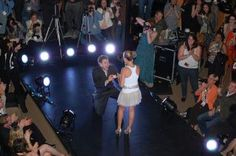 First Knoxville Fashion Week at Harley Davidson West, Designs by Diana Warner and Runway sponsored by Gage Talent Agency - our first runway proposal.  She said yes of course!
