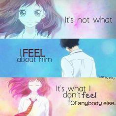 """~Ao haru ride~ """"C'est pas que j'ai des sentiments pour lui c'est que je ne ressens rien pour les autres"""""""