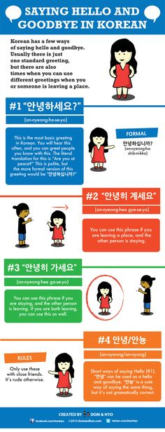 Study and learn basic Korean words with us in a fun way using graphics and comics. Also learn about Korean culture and places to visit. Learn Basic Korean, Learn To Speak Korean, Korean Phrases, Korean Words, Korean Language Learning, Learn A New Language, Language Study, Korean Greetings, How To Say Hello