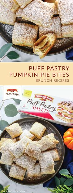 Puff Pastry Pumpkin Pie Bites - The Brooklyn Cook - Trend Christmas Decorating Holiday 2019 Recipes Using Puff Pastry, Puff Pastry Desserts, Puff Pastries, Pumpkin Tarts, Mini Pumpkin Pies, Mini Pies, Fall Desserts, Delicious Desserts, Dessert Recipes