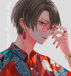 From a southeastern city in Qiarenoja Anime Oc, Kawaii Anime, Manga Anime, Hot Anime Boy, Cute Anime Guys, Anime Art Girl, Anime Boy Zeichnung, Anime Tumblr, Japon Illustration