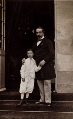 French Emperor Napoleon III and his son Prince Napoleon Eugene 1860's