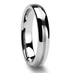 Tailor Made 4mm Center Brushed Sripe Tungsten Ring Domed Wedding Band Size 4-18 (#NR304) € 14,62