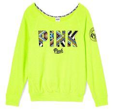 Victoria's Secret neon slouchy shirt!