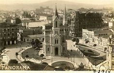 1924 - Largo do Paissandu em direção à Avenida Rio Branco