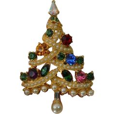 PELL Christmas Tree Brooch Pin