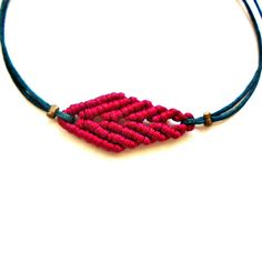 Cuff leaf bracelet friendship bracelet micro от TheDancingCord