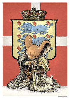 Mouse Guard poster for the Art Bubble festival in Denmark.By David Petersen Art