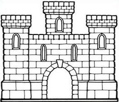 Castle clipart simple - pin to your gallery. Explore what was found for the castle clipart simple Castle Drawing, House Drawing, Castle Crafts, Drawing Clipart, Baby Quilt Patterns, Art Template, Paper Houses, Learn To Draw, Colors