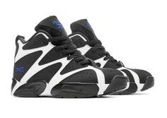 Get while it last! NEW Reebok Kamikaze V60359 I Mid Basketball Shoe - White/Black w Blue Print 9.5  #Reebok #KamikazeV60359