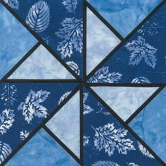 Stained Glass Locomotion Quilt Block Pattern