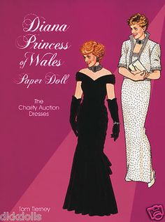 Diana, Princess of Wales, Paper Doll: The Charity Auction Dresses. Tierney 1997, is for sale as an Ebay Buy-It-Now listing.