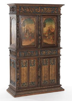 Italian Renaissance Revival Style Tall Cabinet -- Curated by: OK Estates | 7 - 1960 Springfield rd Kelowna bc v1y 5v7 | 250-868-8108