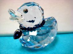 JOLLY JAY DUCK 2010 VERY SMALL CHIPS IN CRYSTAL SWAROVSKI  RETIRED #1041294-BB