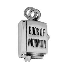 "Charm ""Book of Mormon"" Sterling Silver LDS RWH NR Mormon J98"