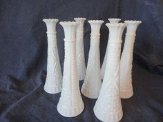 Vintage white milk glass vase collection of 14 Stars by kpdreams,