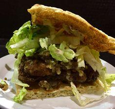 Crispy chicken waffle sandwich - Smokin' George's BBQSmokin' George's BBQ