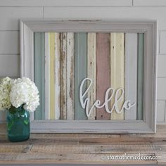 Start at Home Decor's Reclaimed Wood Signs with Wood Word Cutouts.