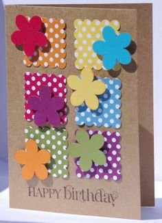Stampin up DSP Polka Dot Parade and Brights collection card stock. Curly Cute Stamp set