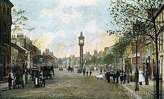 Cockermouth Main Street c.1900 (colour tinted)