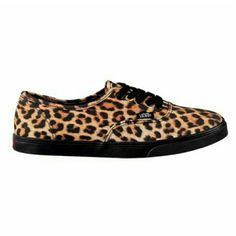 Leopard vans Like new Leopard print vans Black laces Vans Shoes Sneakers
