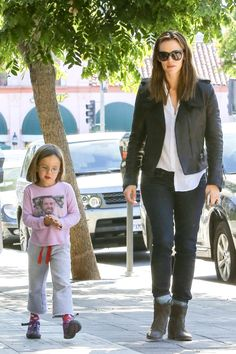 Jennifer Garner with Seraphina Affleck