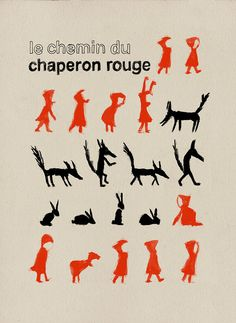 Le chemin du chaperon rouge by milimbo on Etsy, €25.00