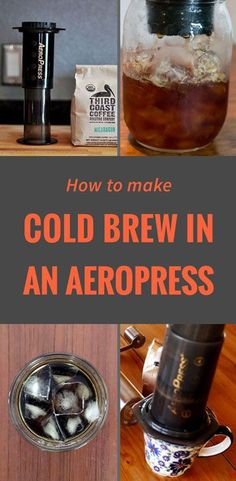 Cold brew in an aeropress