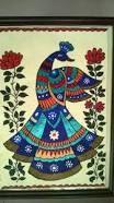 Madhubani painting peacock - Art and Craft School Peacock Drawing, Peacock Painting, Peacock Art, Fabric Painting, Diy Painting, Peacock Rangoli, Madhubani Paintings Peacock, Madhubani Art, Indian Art Paintings