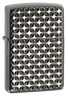 This Armor™ Ebony™ lighter was created by Grant Duke, a fourth generation of the Zippo family. The bright-cut engraving of this lighter produces dazzling facets, resulting in the dimensional look of a beautiful emblem directly on the surface of this windproof lighter. Enhanced with a personalization panel and a gold-flashed inside unit.