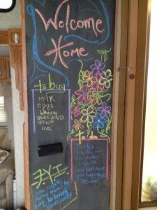 DIY magnetic chalkboard wall