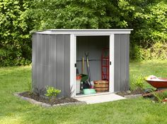 Buy Arrow Metal Garden Shed - 8 x at Argos. Thousands of products for same day delivery or fast store collection. Metal Shed, Paving Slabs, Garden Equipment, Pool Accessories, Argos, Outdoor Storage, Illinois, Concrete, Home And Garden