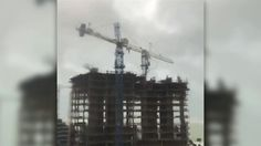 cool Crane Swings Loose in Fort Lauderdale After Irma Strikes Check more at http://sherwoodparkweather.com/crane-swings-loose-in-fort-lauderdale-after-irma-strikes/