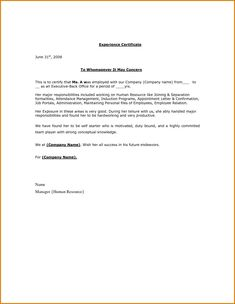 no objection letter format for employee