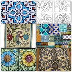 Vintage Persian tiles.