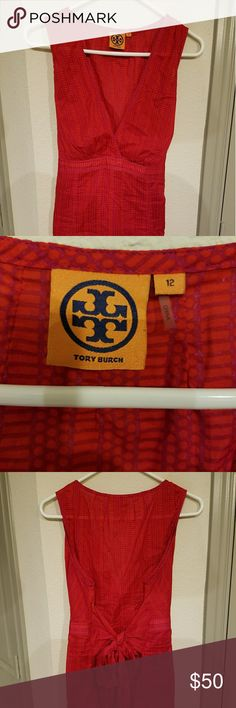 Tory Burch Ardelle shell red vneck tie back top Tory Burch Ardelle shell red vneck tie back top Tory Burch Tops