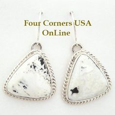 Four Corners USA Online - Sacred Buffalo Stone Sterling Earrings Navajo Artisan Tony Garcia Native American Silver Jewelry, $155.00 (http://stores.fourcornersusaonline.com/sacred-buffalo-stone-sterling-earrings-navajo-artisan-tony-garcia-native-american-silver-jewelry/)